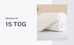 15 Tog Duvet SNUGGLE UP Super Winter Warm Quilt Duvet Single/Double/King Size