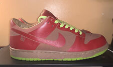 NIKE DUNK LOW 1 PIECE PREMIUM MEN'S SIZE: 10 BURGUNDY/RUST/LIME/RUST 2005