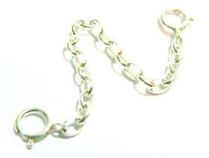 Clip On Safety Chain Silver Gold Steel Lots of Lengths And Metal Choices.