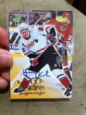 "HENRY KUSTER 1996 CLASSIC ""VISIONS SIGNINGS"" AUTOGRAPH AUTO CHL HOCKEY CARD!!!!!"
