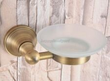 Antique Brass Soap Dish Holder Bathroom Accessory Wall Mounted yba167