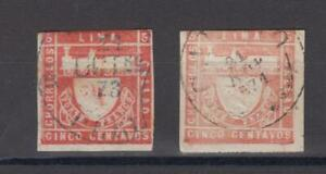 Peru S.G. #21A series 1871 imperf VF used