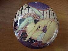Art deco style erotic porcelain trinket pill box Gerda Wegener 932-4B