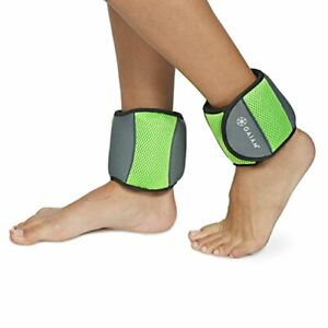 Gaiam Ankle Weights Strength Training Weight Sets For Women & Men With Adjustabl