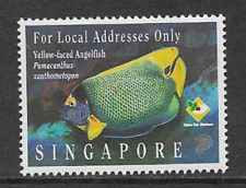 SINGAPORE POSTAL ISSUE 1995 MINT COMMEMORATIVE STAMP FISH YELLOW FACED ANGELFISH