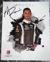 Alexander Rossi Signed Indy 500 Winner 8x10 Photo Card Indianapolis 500 Race Car