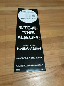 SYSTEM OF A DOWN Steal this album poster 8x24 2 sided promo