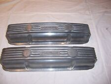 Chevy SBC Small Block Edelbrock Aluminum Valve Covers  Old School  Hot Rod