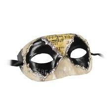 Venetian Mask Masquerade Music Jester Rustic Gold Black Silver Renaissance Faire