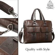 79f31faf9 Briefcase Leather Laptop Bag Men Business Genuine Satchel Shoulder Messenger