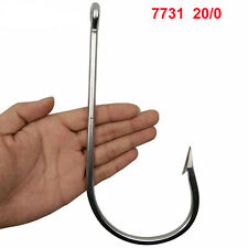 1pcs Large Stainless Steel Fishing Hooks Big Game Thick Tuna Fish Hook 7731 20/0