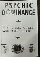 PSYCHIC DOMINANCE How To Rule Others With Your Thoughts ZOHAR SCIENCE 1955 -1959