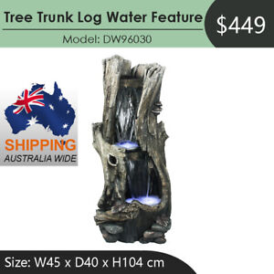 Tree Trunk Log Water Feature Fountain DW96030