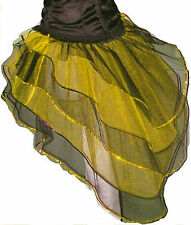Yellow Black Bustle Burlesque Bumble bee tutu Skirt dance Halloween hen party