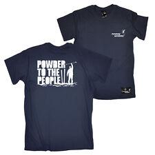 Fb Skiing Snowboarding Tee Powder To The People Novelty Birthday Mens T-Shirt