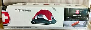 """Brand New Wenger 9'x9' """"Matterhorn"""" Geodesic Dome 4-person Backpacking Tent"""