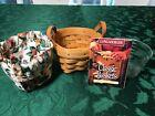 Thyme Booking Basket w/ Protector & Garden Splendor Liner 1996 Longaberger