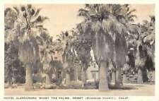 Hemet California Hotel Alessandro Street View Antique Postcard K89369