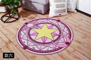 Card Captor Magic Circle Round Cushion Carpet Water Absorption Non-slip Present