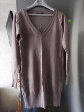 ROBE PULL  taille TU  - couleur : café au lait - robe tricot de femme