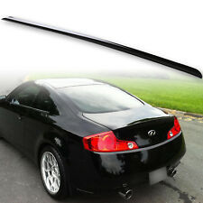 Painted Black Round End Rear Trunk Lip Spoiler For Infiniti G35 03-07 Coupe KH3