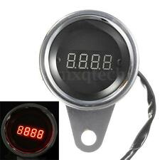 12V Red Led Waterproof Motorcycle Digital Tachometer Tacho Speedometer RPM Gauge