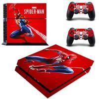 Regular PS4 Console Controllers Skin Set Marvel Spider Man Vinyl Decals Stickers