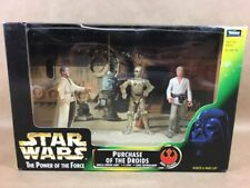 """STAR WARS 1997 THE POWER OF THE FORCE """" PURCHASE OF THE DROIDS""""LARS,C-3PO,LUKE"""
