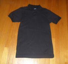 Boys Izod Black Short Sleeve Uniform Polo Shirt Size M 10/12 Regular