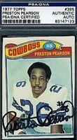 Preston Pearson Cowboys Psa/dna Signed 1977 Topps Authentic