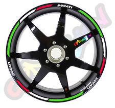 Strisce adesive per cerchi moto Tricolore Italia DUCATI strip sticker tuning