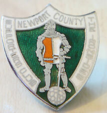 Newport County FC Vintage Supporters Club badge Maker Reeves b'ham 30 mm x 34 mm
