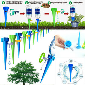 1/3pcs Automatic Self Watering Spikes System Garden Home Plant Pot Waterer Tool。