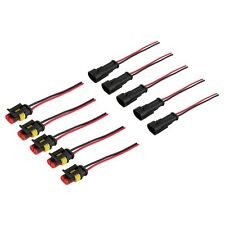 5 Kit 2 Pin Way Car Waterproof Electrical Connector Plug with Wire AWG Marine UL