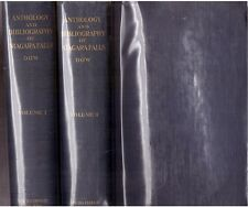 Charles M Dow Anthology and Bibliography of Niagara Falls Volume 1 and 2 1921