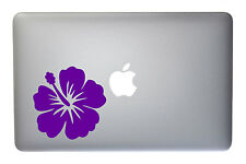 Hibiscus Tropical Flower - 5 Inch Purple Vinyl Decal for Macbook, Laptop