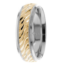10K SOLID GOLD MENS WOMENS VINTAGE WEDDING BANDS RINGS HIS HER WEDDING RING SET