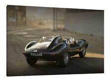 Jaguar D-Type - 30x20 Inch Canvas - Framed Picture Print Wallart