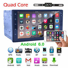 Android 6.0 Marshmallow Car Stereo GPS 3G WIFI 7'' 2Din in dash Navigation 4Core