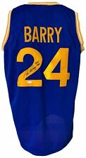 """Golden State Warriors Rick Barry Autographed Pro Style Blue Jersey """"HOF 1987""""..."""