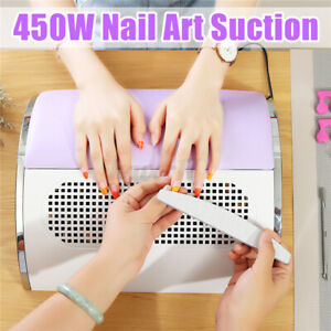 Smooth Nail Art Dust Suction Collector +2 Fan Vacuum Cleaner Manicure Tools