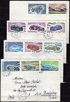 1100 - Monaco - Evoluzione automobile su busta, 1976