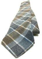 CONNOISSEUR COLLECTION Necktie Tie 100% Arcylic Blue, Brown, Gray Plaids & Check