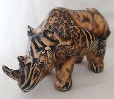 La Vie Safari Pattern Rhinoceros 8 x 5 Inch Rare