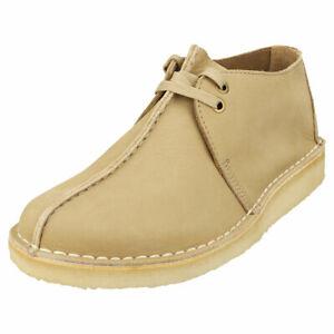 Clarks Originals Desert Trek Mens Light Taupe Leather Desert Shoes