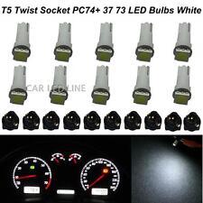 10x White T5 74 5050-SMD LED Instrument Cluster Dash Light Bulbs For Ford