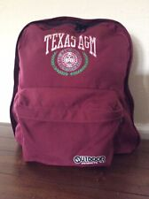 Vintage Outdoor Products Maroon Backpack Embroidered Texas A&M Made In USA