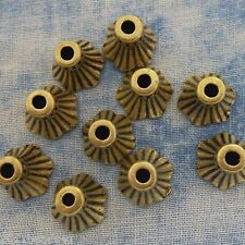 Antique Bronze Alloy Metal Bell Bead Caps 20 Pieces 9.3mm  #0536