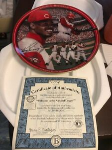 Ken Griffey Jr Cincinnati Reds Welcom To The National League Plate MLB Baseball