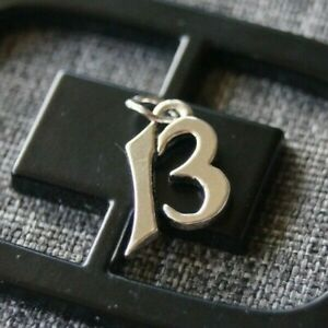 """*Retired* James Avery Sterling Silver NUMBER """"13"""" Charm"""
